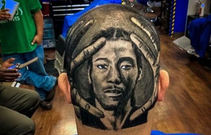 Талантливый Парикмахер Создает Портреты Знаменитостей на Головах Клиентов