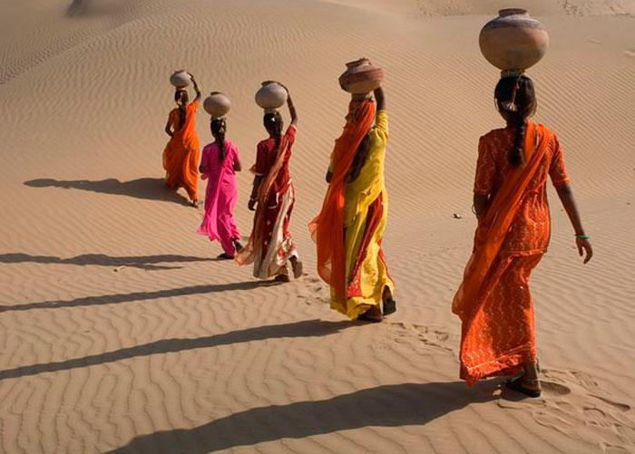 Пересечение Пустыни, Раджастан, Индия