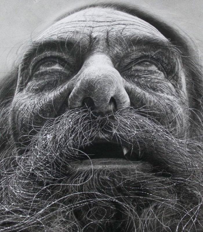 Дуглас Макдугал - Невероятно Реалистичные Портреты Углем