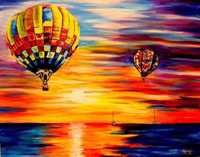 Слепой художник на ощупь создает потрясающие Картины