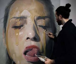 Немецкий художник создает фотореалистичные картины маслом