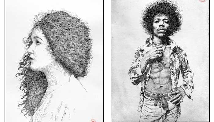Невероятно Детальные Портреты, Созданные Исключительно Черными Чернильными Точками