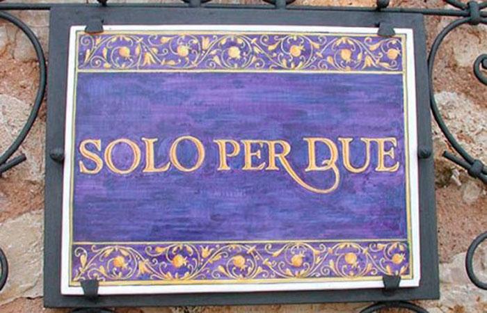 Solo Per Due - Самый Маленький в Мире Ресторан