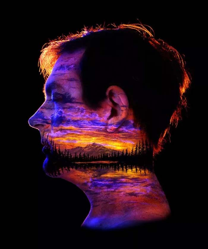 Ошеломляющие Картины на теле которые светятся