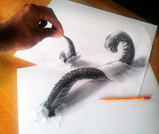 Художник Создающий 3D Рисунки Карандашом – Рамон Бруин