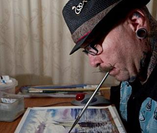 Стив Чемберс - Художник Который Рисует Невероятные Произведения Устами